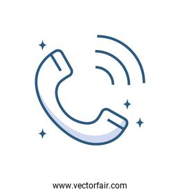 telephone device technology object line style icon