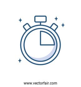 stopwatch clock time device line style icon