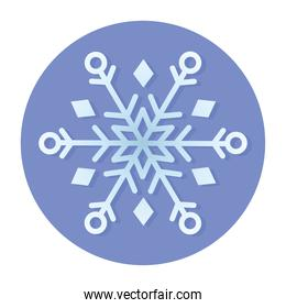winter snowflake cold blue background circle icon