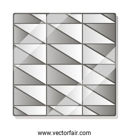 geometric abstract paving tiles layout