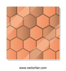 hexagonal stone tiles seamless texture pattern