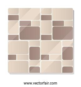 abstract shapes mosaic tiles design