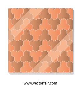 cobblestone pavement geometric mosaic design