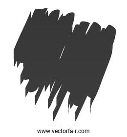 scribble stain paint brush stroke icon white background
