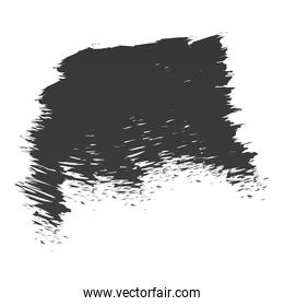 scribble stain brushed element icon white background