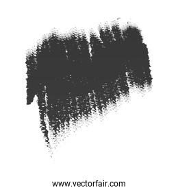 scribble stain paintbrush black icon white background