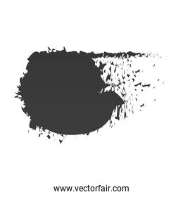 scribble stain shape abstract black paint