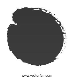 scribble stain round shape icon white background