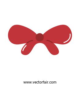 red gift bow decoration cartoon flat icon