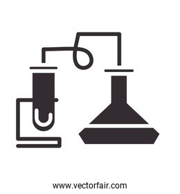 biology chemical experiment science element silhouette icon style