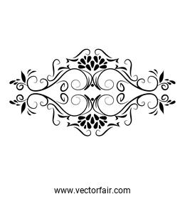 divider decoration rustic floral icon