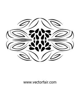 divider decorative floral scroll icon