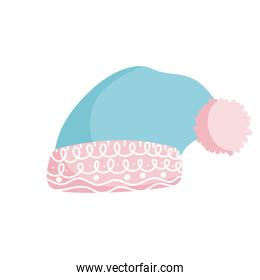 winter hat warm accessory casual icon isolation