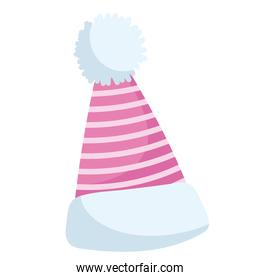 winter hat accessory warm clothes icon isolated