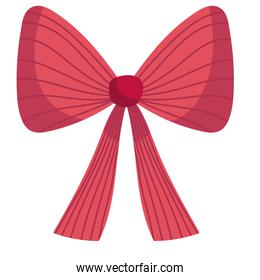 merry christmas red gift bow decoration celebration icon design