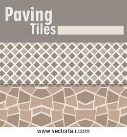 paving tiles abstract and geometric decoration banner