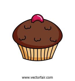 chocolate sweet cupcake icon, colorful design