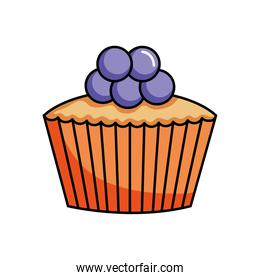 blueberries cupcake icon, colorful design