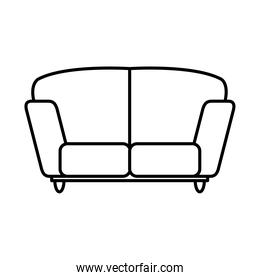 couch icon image, line style