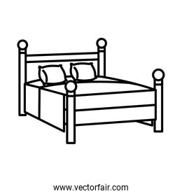 furniture concept, bed icon, line style
