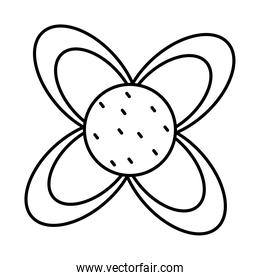 cute flower line style icon