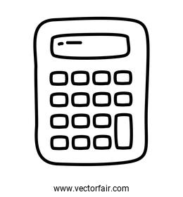 calculator icon, doodle line style