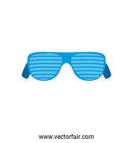glasses with stripes icon, flat style on white background