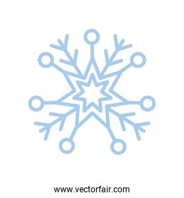 snowflake, christmas and winter concept, blue line style