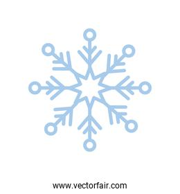snowflake  christmas and winter   blue line style icon