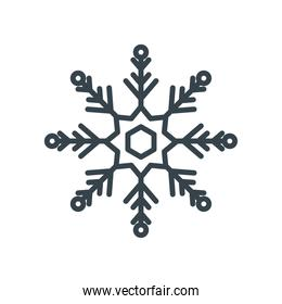 snowflake, christmas and winter   line style