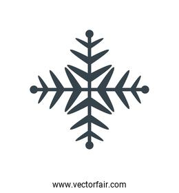 snowflake  christmas and winter concept  line style icon