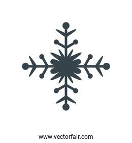 snowflake, christmas and winter concept, line style icon