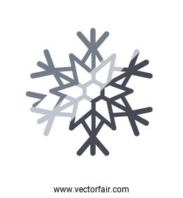 snowflake, christmas and winter concept, line degraded style icon