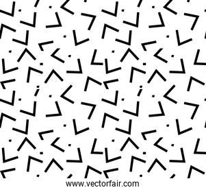 Seamless black, white abstract pattern, Memphis style