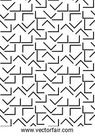 memphis style, abstract lines seamless design