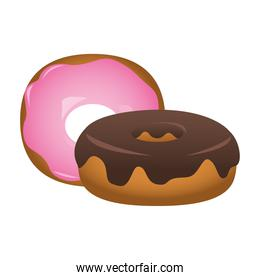delicious sweet donuts isolated icon