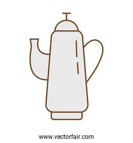 teapot fill style isolated icon