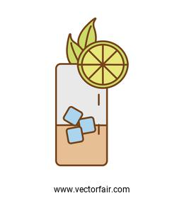 iced tea with lemon fill style icon
