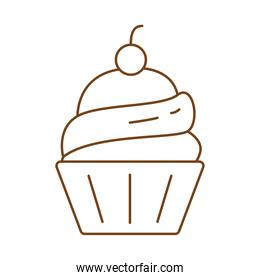 sweet cupcake pastry line style icon