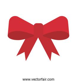 happy merry christmas bow flat style icon