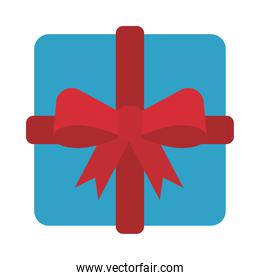 happy merry christmas gift flat style icon