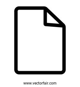 paper document line style icon