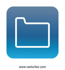 folder file document block gradient style icon