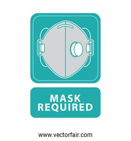 mask required green advertise label
