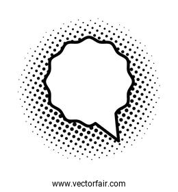 monochrome and dotted speech bubble isolated style icon