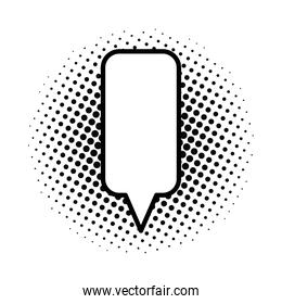 dotted speech bubble isolated style