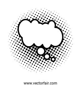 dotted and monochrome   speech bubble