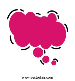 speech bubble color pink isolated icon
