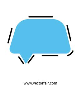 speech bubble color blue isolated icon