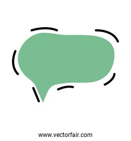 speech bubble green color isolated icon